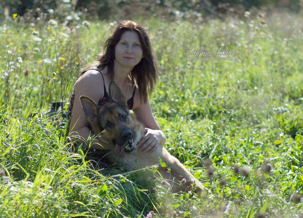 Deutscher Schäferhund Rex mit Frauchen